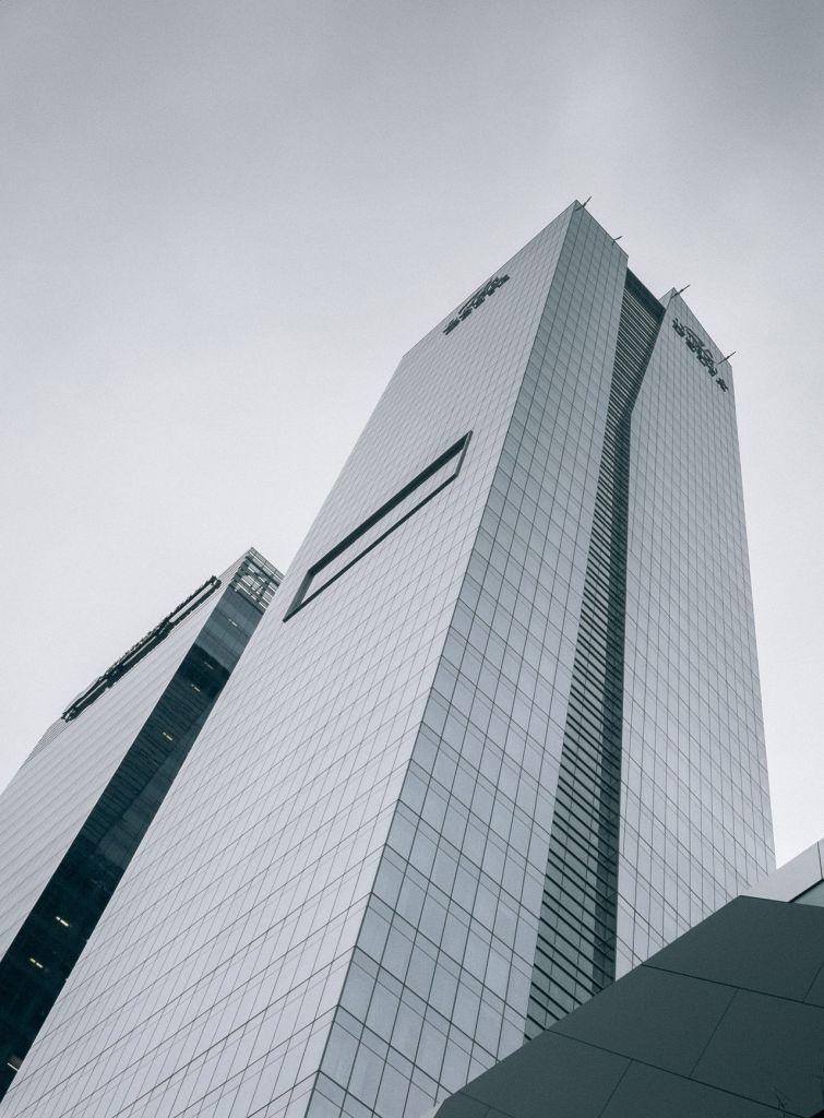 Gray city buildings